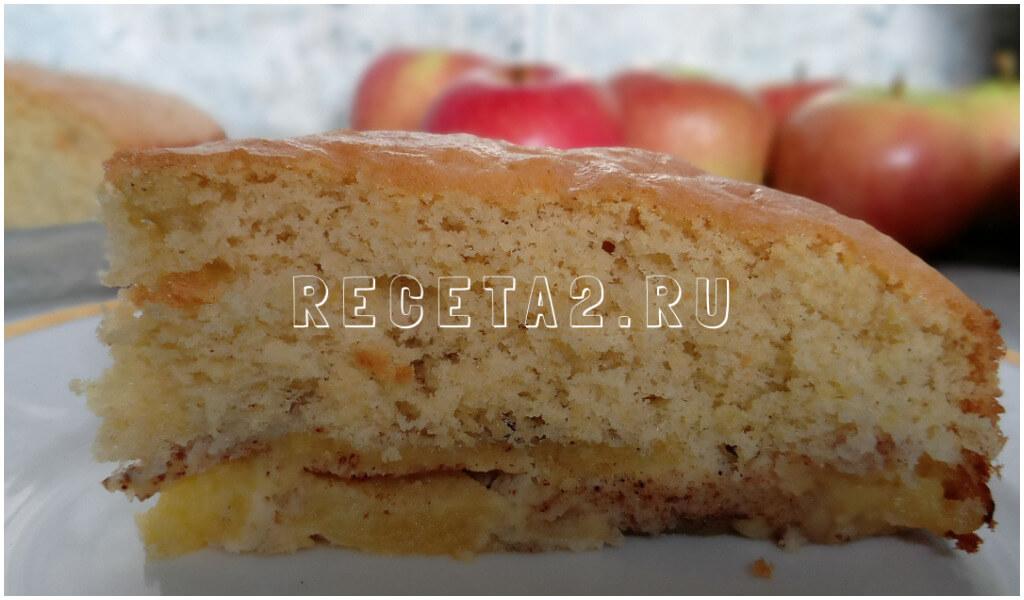 sharlotka-s-yablokami-v-duxovke